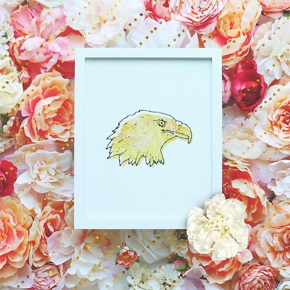Eagle printable poster, Nursery Printable Wall Art, Animal Printable, Modern Wall Art, Minimalist Poster, Watercolor Print DIGITAL FILE
