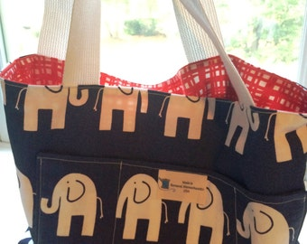 Large Elephant Tote Bag is Sturdy and Reversible