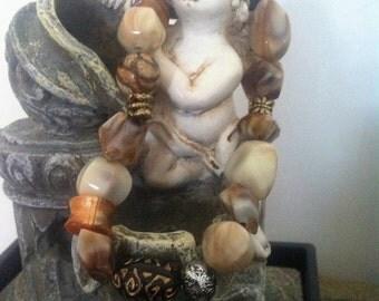 Pearly beige Beads Bracelet