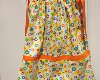Flowers Everywhere Pillow Case Dress(18M - 2T)
