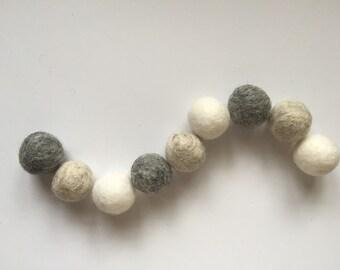 Gray's Ombre Felt Ball Garland