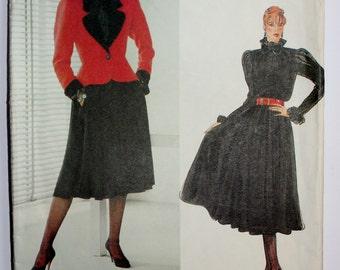 Yves Saint Laurent Jacket, Skirt & Blouse Pattern from Vogue Paris Originals.  Size 14