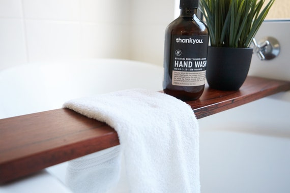 wood bath tray