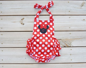 Personalized Polka Dot Romper