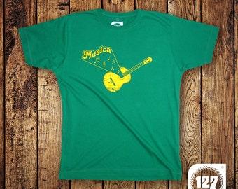 Men's T-shirt 'Musica' – Green