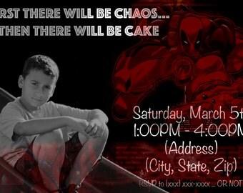Printable Deadpool Birthday Invitations
