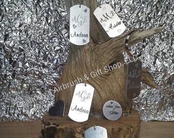 Custom made Engraved aluminum dog tag or charm