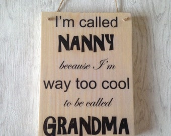 Nanny plaque; Mother's Day gift; gift for nanny