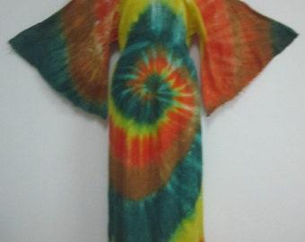 AMAZING ~ Hippie Muslin Tie Dyed Dress!  12/14