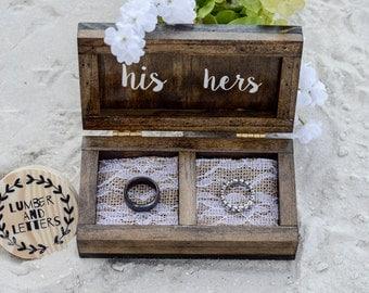 wedding ring box rustic wedding ring box wood ring box ring bearer box - Wedding Ring Boxes