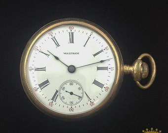 Vintage Waltham Sidewinder Pocket Watch c. 1906