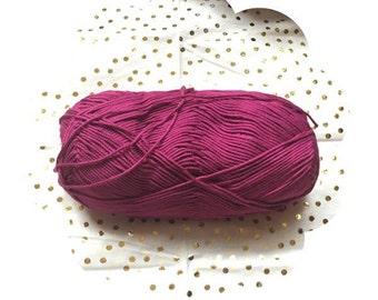 Luxurious yarn. Bamboo cotton blend yarn. Baby bamboo fuchsia. Fuchsia yarn. Extra soft baby yarn. Yarn supply for crochet or knitting.