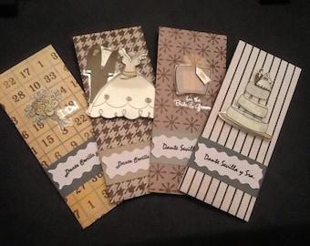 Money envelopes - set of 5 - wedding envelopes - custom name