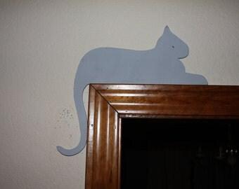 Lazy cat door decor