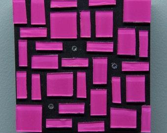 Pink Glass Art, Glass Art, Wall Decor, Abstract Art, Home Decor, Colorful Art, Contemporary, Modern