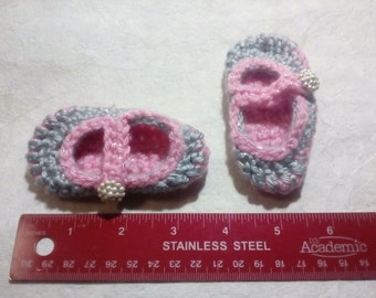 Hand Made Baby Mary Jane Slippers