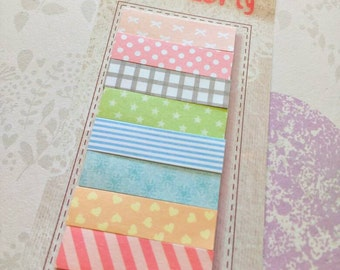 Planner accessories ~ cute stationery ~ memo tab