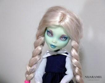 OOAK Custom Monster high doll Frankie Stein – School Girl