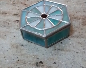 Hexagon Stained Glass Box