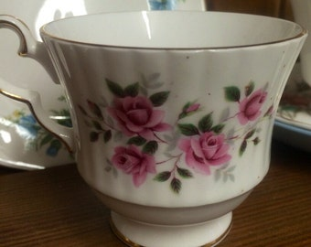 Beautiful vintage teacup candle