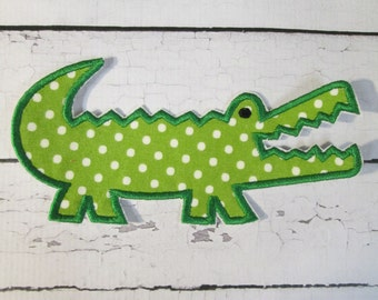 Ready To Ship in 1-3 Business Days Alligator - Iron On Embroidered Applique