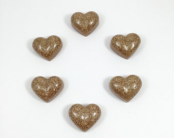 Bronze Heart Magnets | Metallic Magnets | Refrigerator Magnets | Office Magnets | Heart Magnets | Fridge Magnets | Hostess Gift
