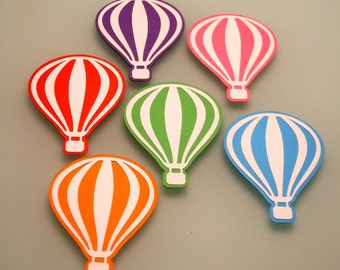 Hot air balloons die cut, READY TO SHIP in 1-2 days, 4