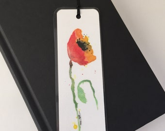Bookmark - Original Print of Watercolor Poppy
