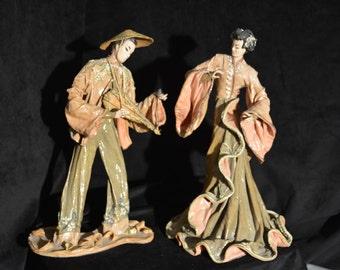 Kathi Urbach pair of fabric sculptures