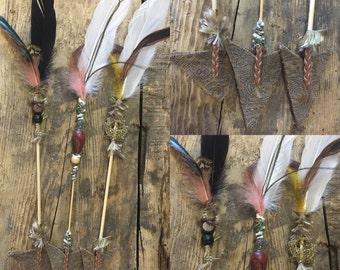 Three Boho Warrior Arrows - Imaginative Play or Room Decor