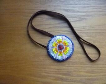 Russian beaded pendant