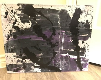 Abstract Painting - Purple1