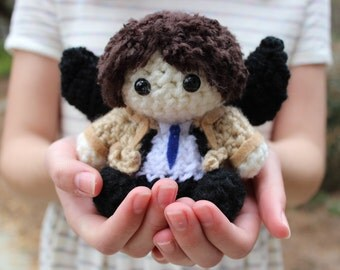 Castiel Supernatural Mini Crochet Doll
