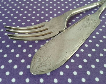 Mappin and Webb fish knife and fork. 1925