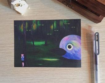 Hide and Seek Postcard (A Print of an Original Painting)