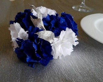 Centerpiece - wedding bouquet - wedding table centerpiece - ceremonies - crepe paper flowers