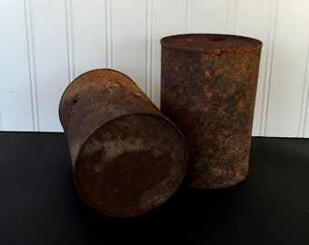 Rusted Oil Cans, Old Rusty Cans, Oil Cans