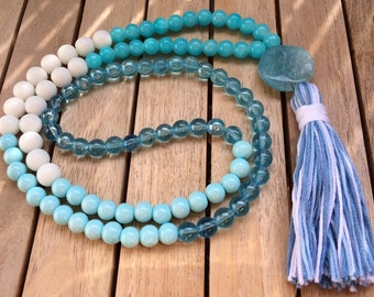 Chain tassel tassel turquoise tassel chain necklace