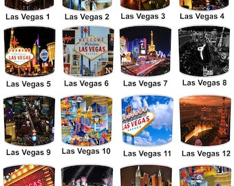Las Vegas City Lamp shades, To Fit Either a Table Lamp base or a Ceiling Light Fitting.