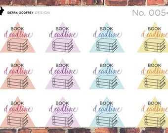 Book Deadline stickers - 0054 Planner Stickers, author stickers, writer stickers, deadline stickers, Day Designer, Happy Planner