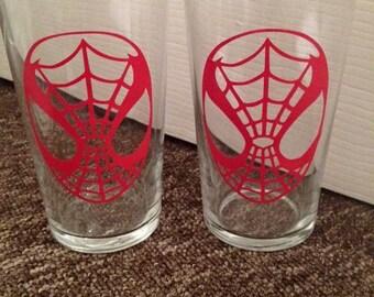 Spider-Man pint glasses