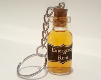 Emergency Rum Keyring - Rum Gift - Alcohol Wedding Favour - Funny Wedding Favour - Mini Bottle Of Rum