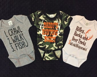Set of 3 Boy Onesies