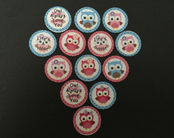 Owl Always Love You Buttons Set of 15