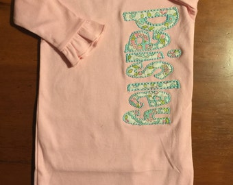 Applique Baby Girl Coming Home Gown