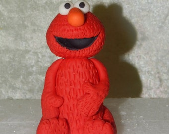Elmo Inspired Fondant Cake Topper