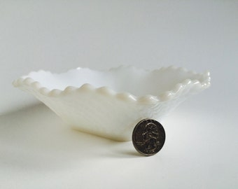 Milk Glass Candy Dish