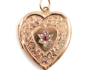 Antique Engraved Heart Locket