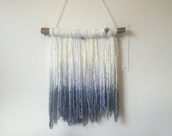 Indigo and White wall hanging