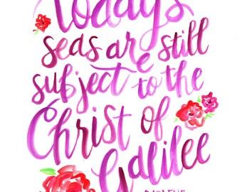 Christ of Galilee Art Print